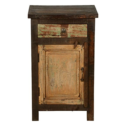 Rustic Solid Reclaimed Wooden Modern Antique Handmade Bedside 0 0
