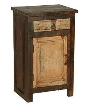 Rustic Solid Reclaimed Wooden Modern Antique Handmade Bedside 0 1 300x360
