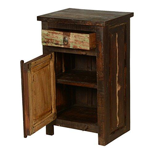 Rustic Solid Reclaimed Wooden Modern Antique Handmade Bedside 0 2