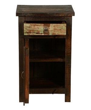 Rustic Solid Reclaimed Wooden Modern Antique Handmade Bedside 0 3 300x360