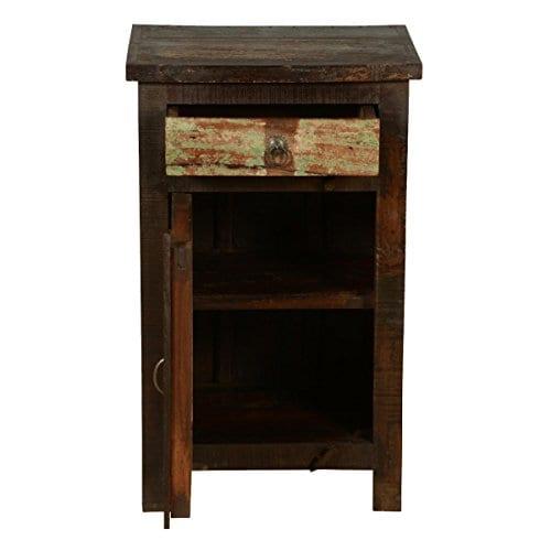Rustic Solid Reclaimed Wooden Modern Antique Handmade Bedside 0 3