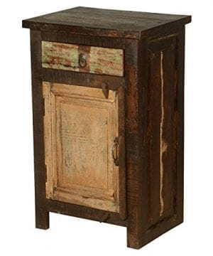 Rustic Solid Reclaimed Wooden Modern Antique Handmade Bedside 0 300x360