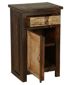 Rustic Solid Reclaimed Wooden Modern Antique Handmade Bedside 0 4 300x360