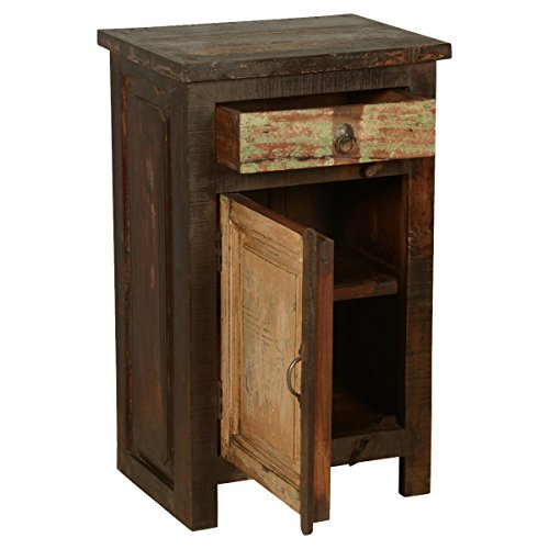 Rustic Solid Reclaimed Wooden Modern Antique Handmade Bedside 0 4