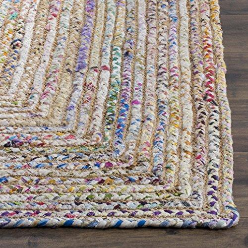 Safavieh Cape Cod Collection CAP202B Hand Woven Jute Cotton Area Rug 2 X 3 BeigeMulti 0 0