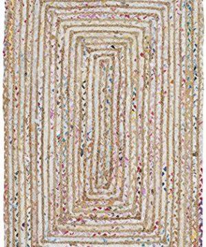 Safavieh Cape Cod Collection CAP202B Hand Woven Jute Cotton Area Rug 2 X 3 BeigeMulti 0 300x360