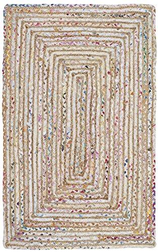 Safavieh Cape Cod Collection CAP202B Hand Woven Jute Cotton Area Rug 2 X 3 BeigeMulti 0