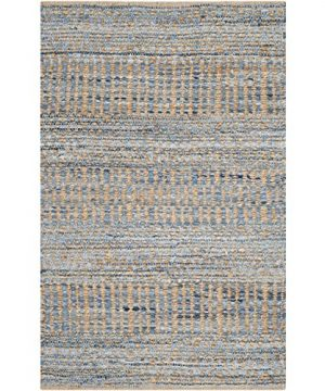 Safavieh Cape Cod Collection CAP353A Hand Woven Flatweave Natural And Blue Jute Area Rug 2 X 3 0 0 300x360