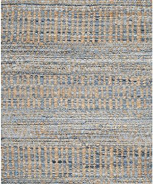 Safavieh Cape Cod Collection CAP353A Hand Woven Flatweave Natural And Blue Jute Area Rug 2 X 3 0 300x360