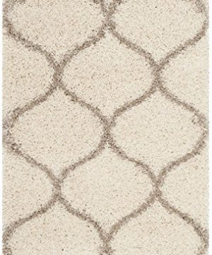 Safavieh Hudson Shag Collection SGH280D Moroccan Ogee Plush Area Rug 2 X 3 IvoryBeige 0 300x360