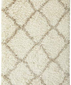 Safavieh Hudson Shag Collection SGH283D Ivory And Beige Moroccan Geometric Area Rug 2 X 3 0 300x360