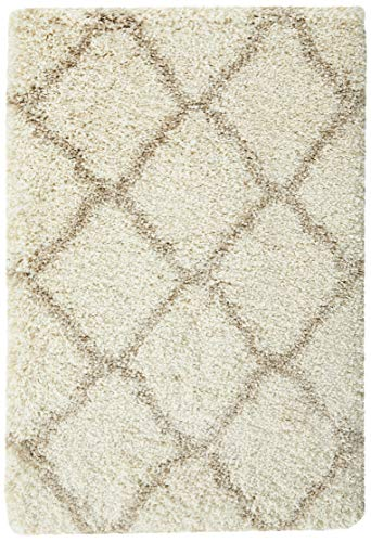 Safavieh Hudson Shag Collection SGH283D Ivory And Beige Moroccan Geometric Area Rug 2 X 3 0