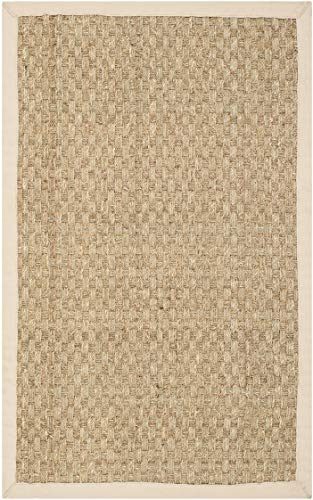 Safavieh Natural Fiber Collection NF114A Basketweave Natural And Beige Summer Seagrass Area Rug 2 X 3 0 0