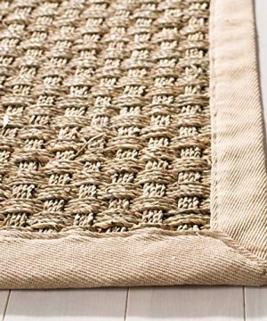 Safavieh Natural Fiber Collection NF114A Basketweave Natural And Beige Summer Seagrass Area Rug 2 X 3 0 1 300x360