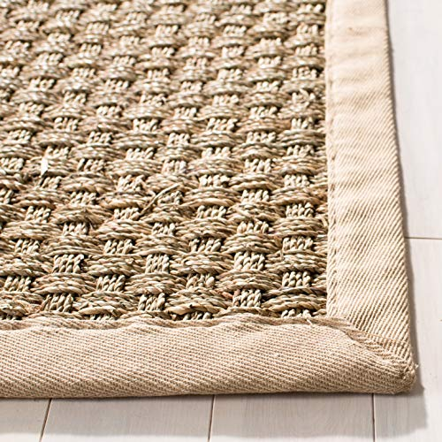 Safavieh Natural Fiber Collection NF114A Basketweave Natural And Beige Summer Seagrass Area Rug 2 X 3 0 1