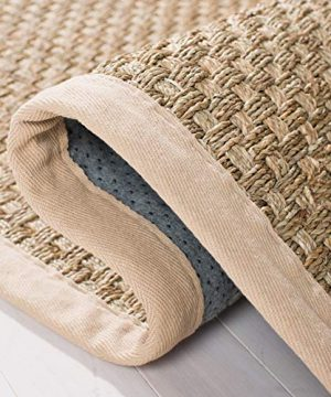 Safavieh Natural Fiber Collection NF114A Basketweave Natural And Beige Summer Seagrass Area Rug 2 X 3 0 2 300x360