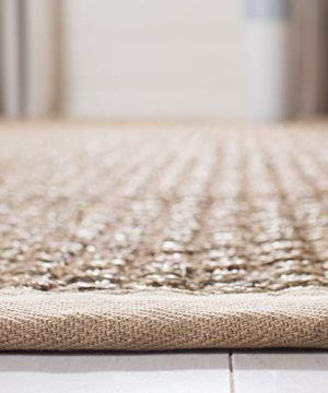 Safavieh Natural Fiber Collection NF114A Basketweave Natural And Beige Summer Seagrass Area Rug 2 X 3 0 3 300x360