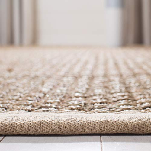 Safavieh Natural Fiber Collection NF114A Basketweave Natural And Beige Summer Seagrass Area Rug 2 X 3 0 3