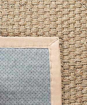 Safavieh Natural Fiber Collection NF114A Basketweave Natural And Beige Summer Seagrass Area Rug 2 X 3 0 4 300x360