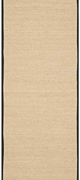 Safavieh Natural Fiber Collection NF141A Tiger Paw Weave Maize And Black Sisal Area Rug 2 X 3 0 0 160x360