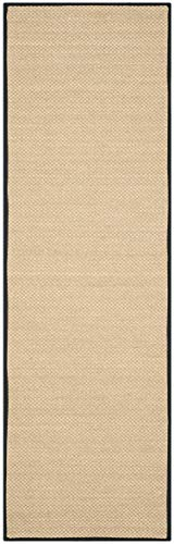 Safavieh Natural Fiber Collection NF141A Tiger Paw Weave Maize And Black Sisal Area Rug 2 X 3 0 0