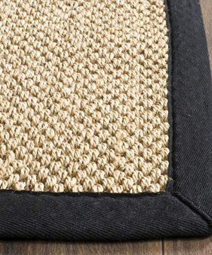 Safavieh Natural Fiber Collection NF141A Tiger Paw Weave Maize And Black Sisal Area Rug 2 X 3 0 1 300x360