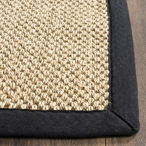 Safavieh Natural Fiber Collection NF141A Tiger Paw Weave Maize And Black Sisal Area Rug 2 X 3 0 1