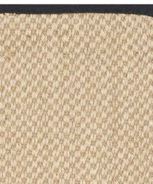 Safavieh Natural Fiber Collection NF141A Tiger Paw Weave Maize And Black Sisal Area Rug 2 X 3 0 2 300x360