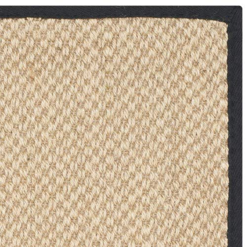 Safavieh Natural Fiber Collection NF141A Tiger Paw Weave Maize And Black Sisal Area Rug 2 X 3 0 2