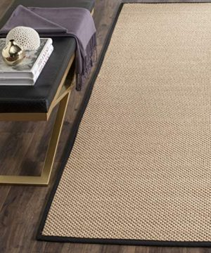 Safavieh Natural Fiber Collection NF141A Tiger Paw Weave Maize And Black Sisal Area Rug 2 X 3 0 300x360