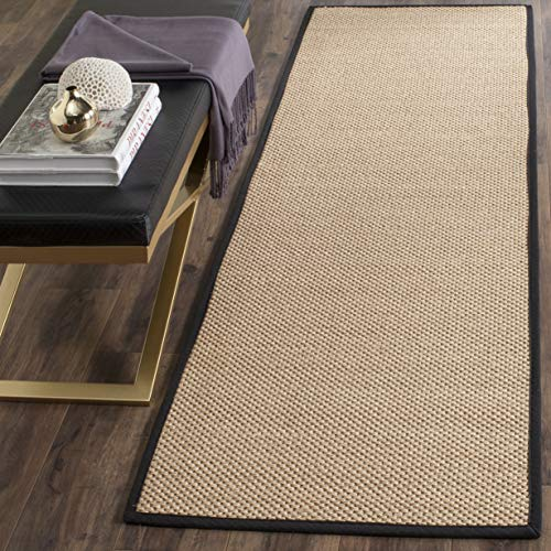 Safavieh Natural Fiber Collection NF141A Tiger Paw Weave Maize And Black Sisal Area Rug 2 X 3 0