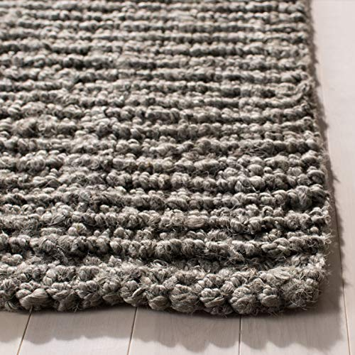 Safavieh Natural Fiber Collection NF447G Hand Woven Chunky Textured Jute Area Rug 2 X 3 Light Grey 0 0