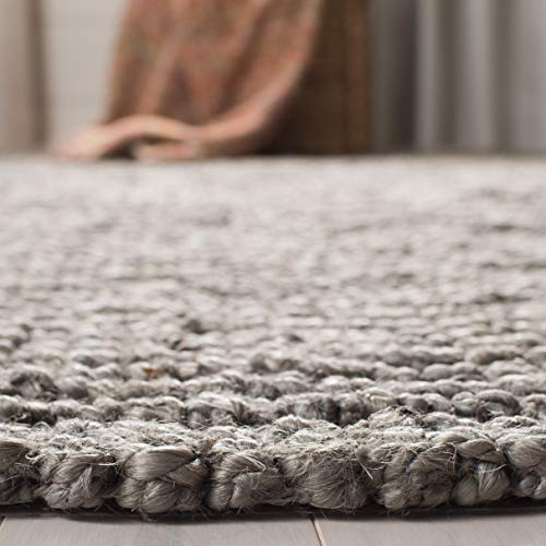 Safavieh Natural Fiber Collection NF447G Hand Woven Chunky Textured Jute Area Rug 2 X 3 Light Grey 0 1