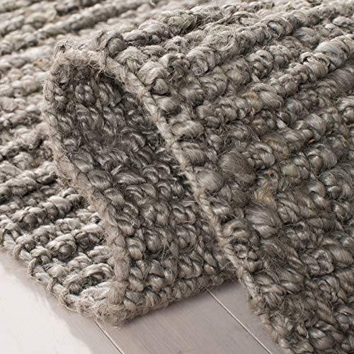 Safavieh Natural Fiber Collection NF447G Hand Woven Chunky Textured Jute Area Rug 2 X 3 Light Grey 0 2