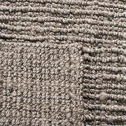 Safavieh Natural Fiber Collection NF447G Hand Woven Chunky Textured Jute Area Rug 2 X 3 Light Grey 0 3