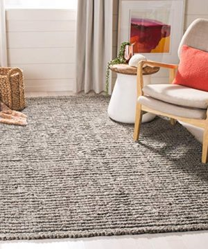 Safavieh Natural Fiber Collection NF447G Hand Woven Chunky Textured Jute Area Rug 2 X 3 Light Grey 0 300x360