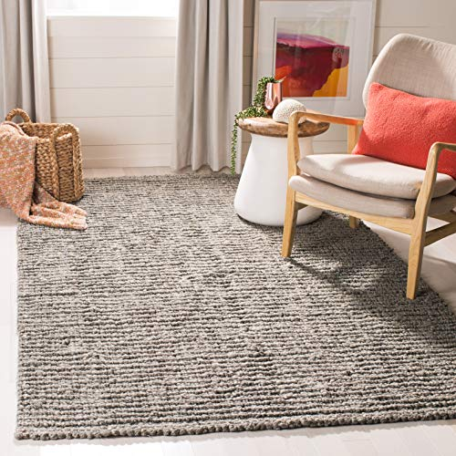 Safavieh Natural Fiber Collection NF447G Hand Woven Chunky Textured Jute Area Rug 2 X 3 Light Grey 0