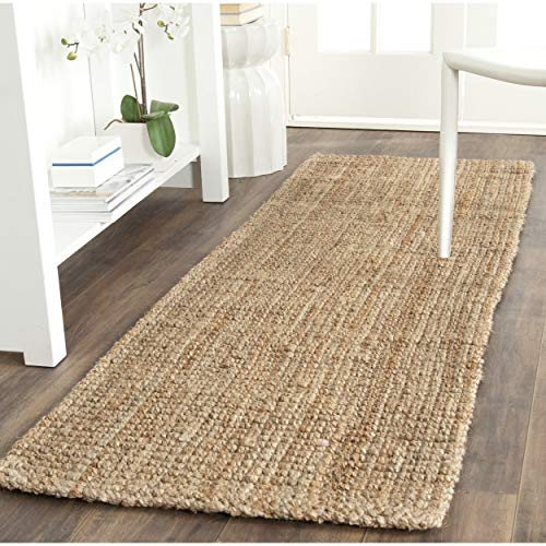 Safavieh Natural Fiber Collection NF747A Hand Woven Natural Jute Area Rug 2 X 3 0 0