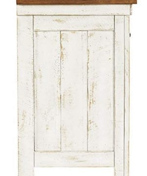 Signature Design By Ashley Wystfield One Drawer Night Stand WhiteBrown 0 4 300x360