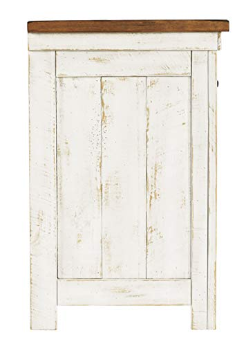 Signature Design By Ashley Wystfield One Drawer Night Stand WhiteBrown 0 4