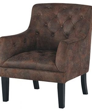 Signature Design By Ashley Drakelle Accent Chair Casual Faux Leather Brown 0 300x360