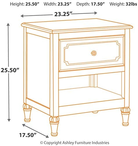 Signature Design By Ashley Faelene Dressers Chipped White 0 2