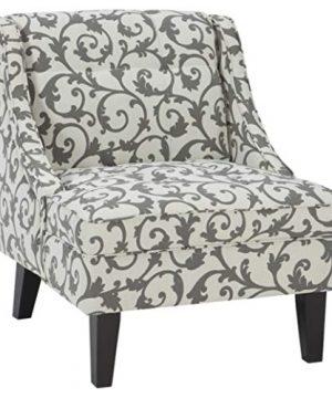 Signature Design By Ashley Kexlor Vine Design Accent Chair GrayWhite 0 300x360