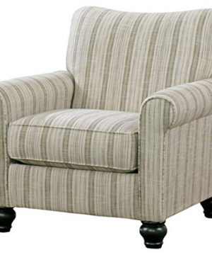 Signature Design By Ashley Milari Classic Striped Accent Chair Off White 0 300x360