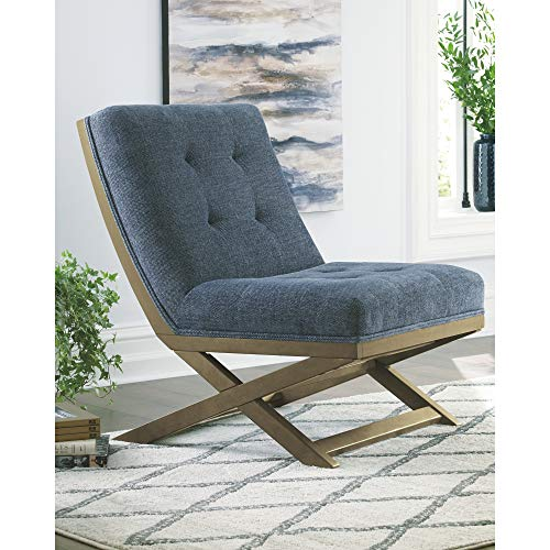 Signature Design By Ashley Sidewinder Accent Chair Farmhouse Style Blue 0 0