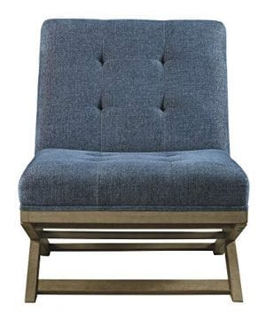 Signature Design By Ashley Sidewinder Accent Chair Farmhouse Style Blue 0 1 300x360
