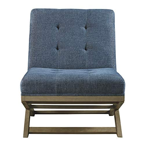 Signature Design By Ashley Sidewinder Accent Chair Farmhouse Style Blue 0 1