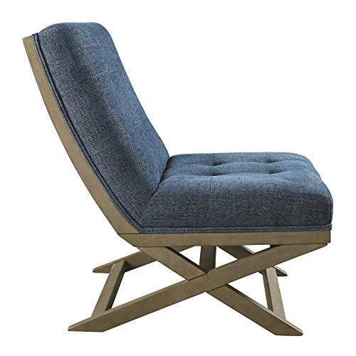 Signature Design By Ashley Sidewinder Accent Chair Farmhouse Style Blue 0 2