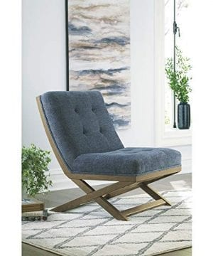 Signature Design By Ashley Sidewinder Accent Chair Farmhouse Style Blue 0 3 300x360