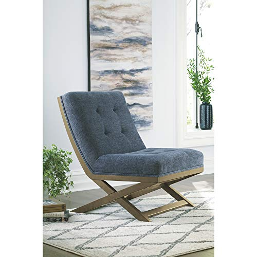 Signature Design By Ashley Sidewinder Accent Chair Farmhouse Style Blue 0 3